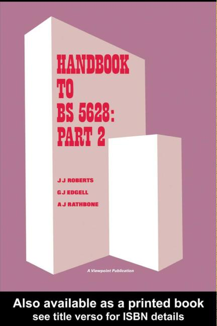 Handbook to BS 5628: Part 2 Structural use of reinforced and prestressed masonry book cover