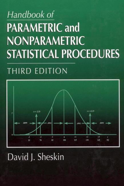 Handbook of Parametric and Nonparametric Statistical Procedures Third Edition book cover