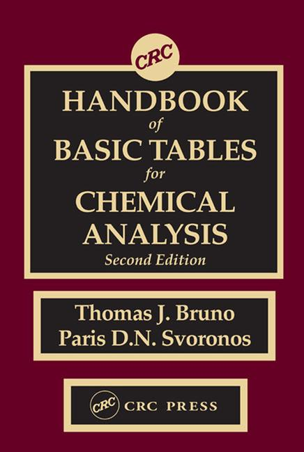 CRC Handbook of Basic Tables for Chemical Analysis book cover