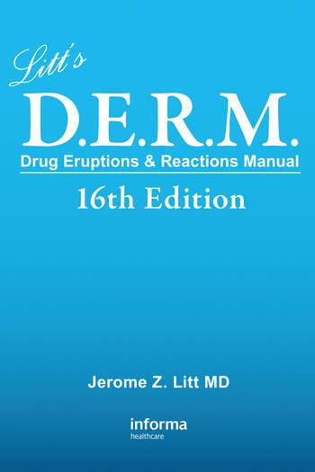 Litt's Drug Eruptions & Reactions Manual book cover