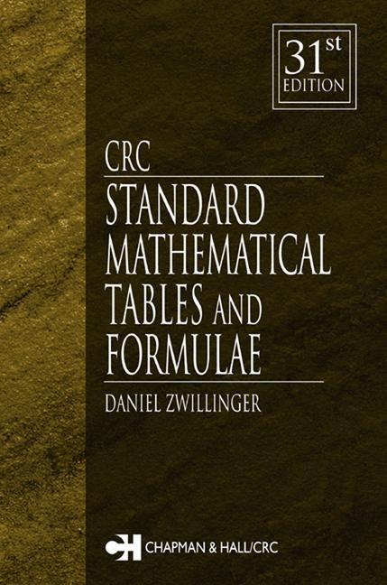 CRC Standard Mathematical Tables and Formulae book cover