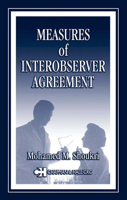 Measures of Interobserver Agreement and Reliability book cover