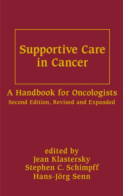 Supportive Care In Cancer A Handbook For Oncologists book cover