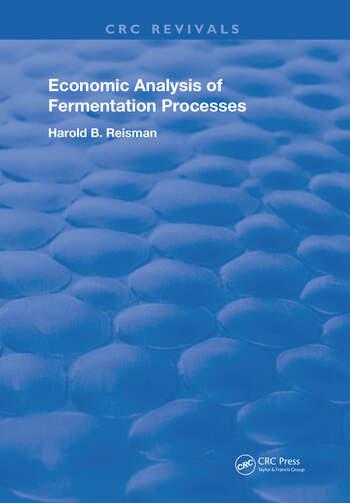 Economic Analysis of Fermentation Processes book cover