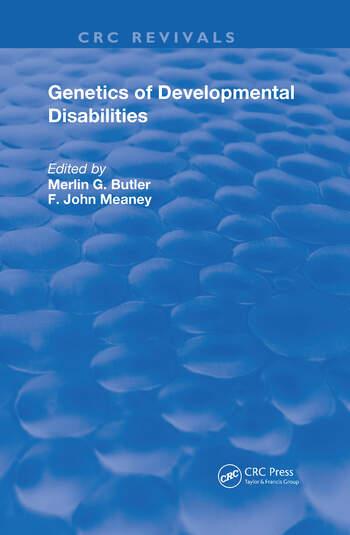 Genetics of Developmental Disabilities book cover