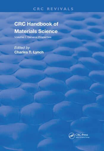 Handbook of Materials Science Volume 1 General Properties book cover