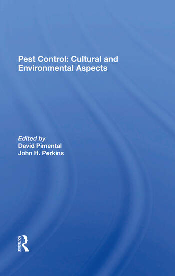 Pest Control: Cultural And Environmental Aspects book cover