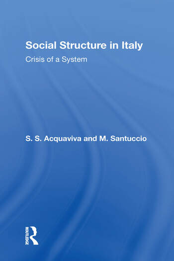 Social Structure In Italy book cover