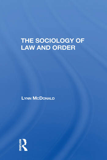 Sociology Of Law & Order/h book cover