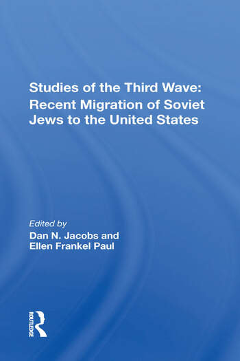Studies Of The Third Wave Recent Soviet Jewish Immigration To The United States book cover