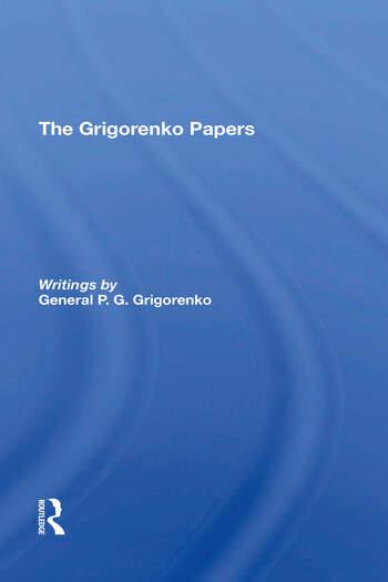 The Grigorenko Papers book cover