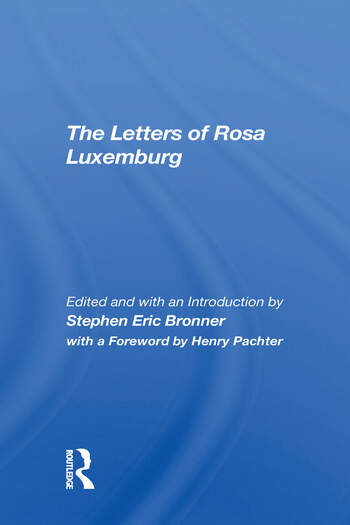 The Letters Of Rosa Luxemburg book cover