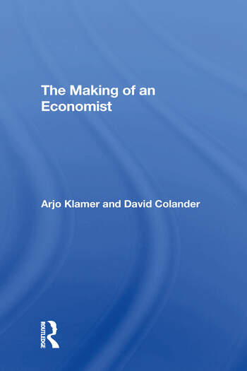 The Making Of An Economist book cover