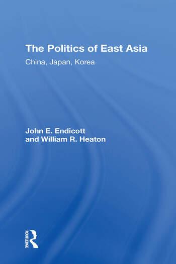 The Politics Of East Asia China, Japan, Korea book cover