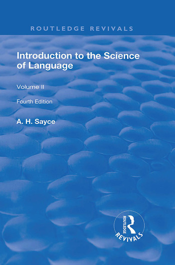 Introduction to the Science of Language In Two Volumes. Vol 2 book cover