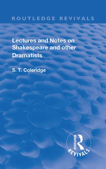 Lectures and Notes on Shakespeare and Other Dramatists. book cover