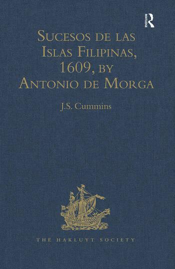 Sucesos de las Islas Filipinas, 1609, by Antonio de Morga book cover