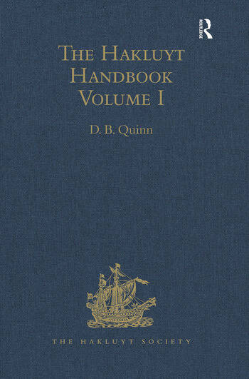 The Hakluyt Handbook Volume I book cover