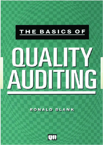 The Basics of Quality Auditing book cover