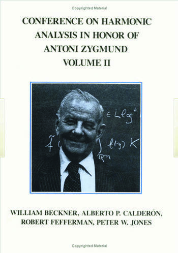 Conference Harmonic Analysis, Volume II book cover