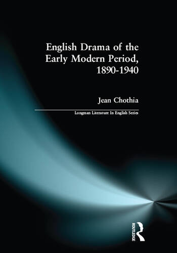 English Drama of the Early Modern Period 1890-1940 book cover