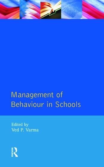 Management of Behaviour in Schools book cover