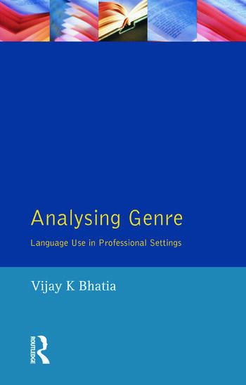 Analysing Genre Language Use in Professional Settings book cover