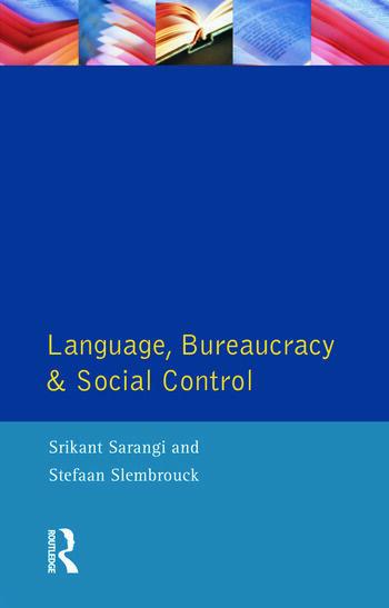 Language, Bureaucracy and Social Control book cover