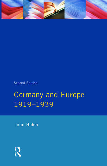 Germany and Europe 1919-1939 book cover