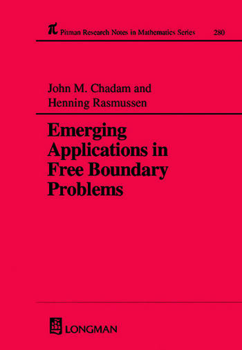 Emerging Applications in Free Boundary Problems book cover