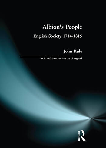 Albion's People English Society 1714-1815 book cover