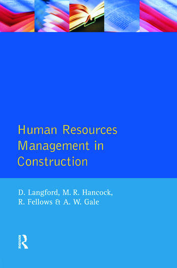 Human Resources Management in Construction book cover