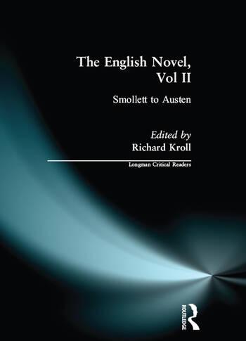English Novel, Vol II, The Smollett to Austen book cover