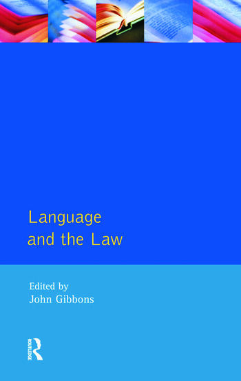 Language and the Law book cover