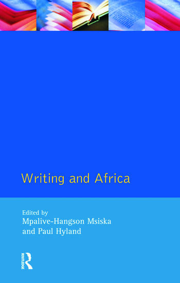 Writing and Africa book cover