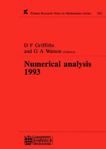 Numerical Analysis 1993 book cover
