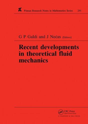 Recent Developments in Theoretical Fluid Mechanics Winter School, Paseky, 1992 book cover
