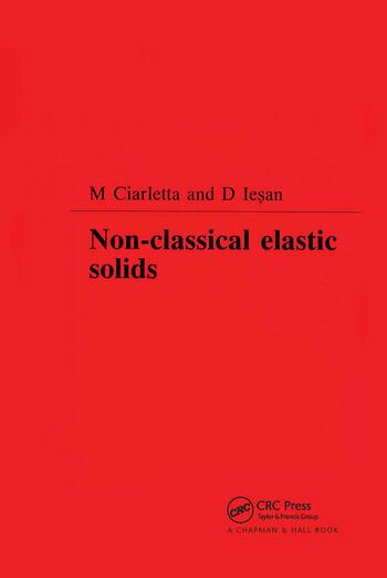 Non-Classical Elastic Solids book cover