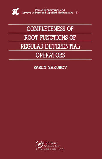 Completeness of Root Functions of Regular Differential Operators book cover