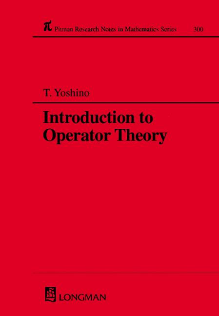 Introduction to Operator Theory book cover