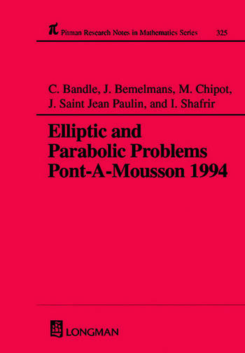 Elliptic and Parabolic Problems Pont-A-Mousson 1994, Volume 325 book cover