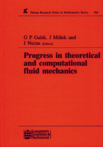 Progress in Theoretical and Computational Fluid Mechanics Winter School, Paseky, 1993 book cover
