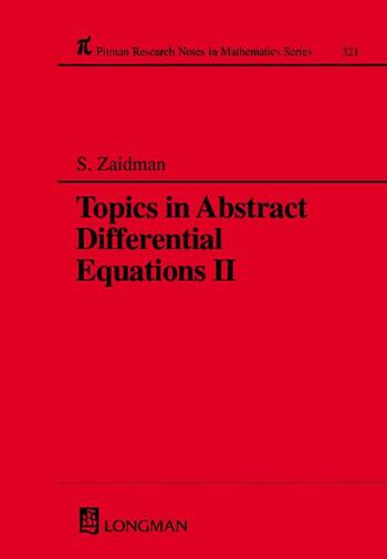 Topics in Abstract Differential Equations II book cover