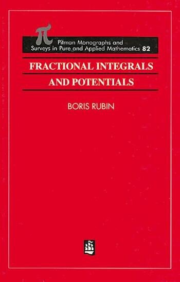 Fractional Integrals and Potentials book cover