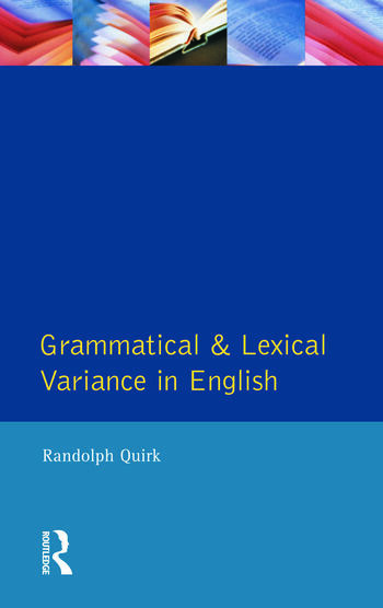 Grammatical and Lexical Variance in English book cover