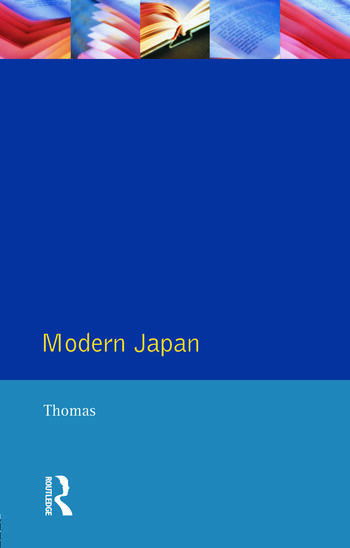 Modern Japan A Social History Since 1868 book cover