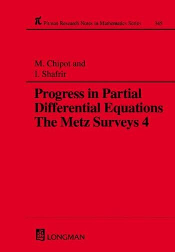 Progress in Partial Differential Equations The Metz Surveys 4 book cover