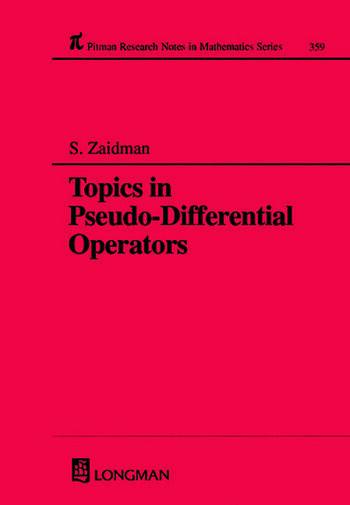 Topics in Pseudo-DIfferential Operators book cover