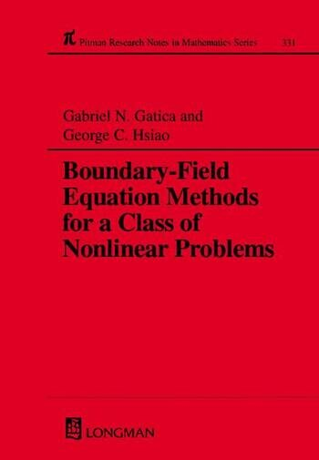 Boundary-field Equation Methods For a Class of Nonlinear Problems book cover
