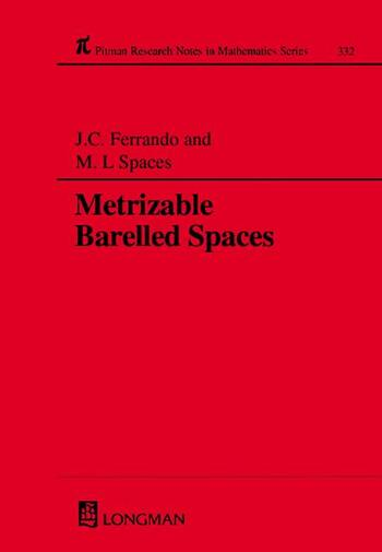 Metrizable Barrelled Spaces book cover